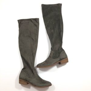 Gianni Bini Grey Suede Over the Knee Boots